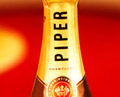Piper champagne neck of bottle label